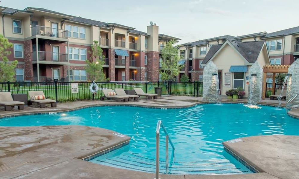 Swimming pool at The Reserve at Elm in Jenks, Oklahoma