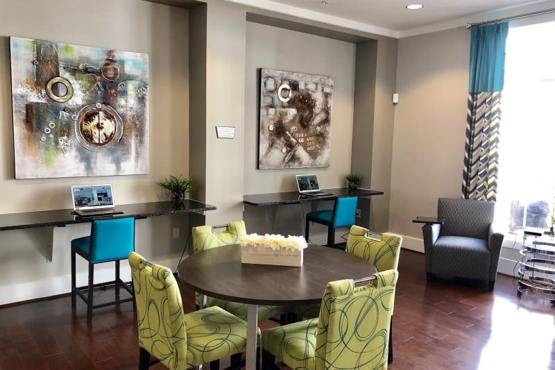 Lobby at Level at 401 in Raleigh, North Carolina