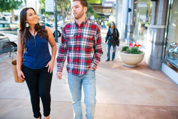 Residents shopping near San Portales in Scottsdale, Arizona