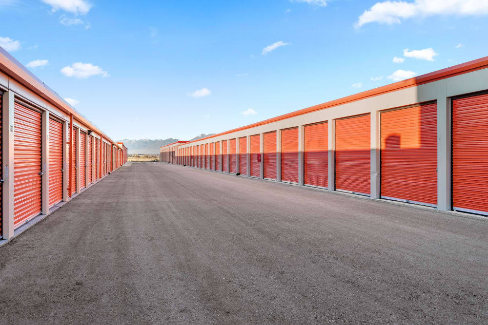 Drive up outdoor storage at Stor'em Self Storage in Payson, Utah