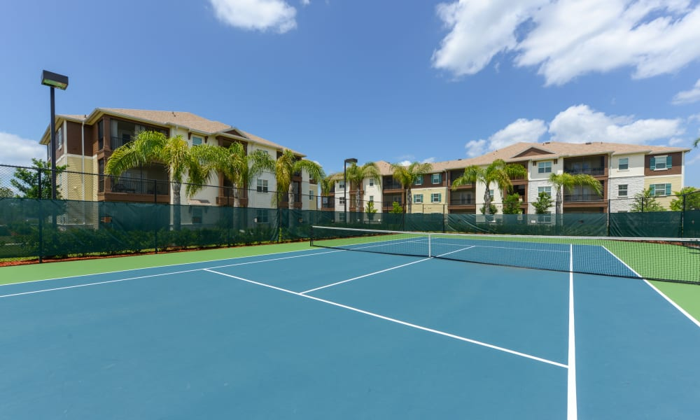 Tennis courts at Cabana Club and Galleria Club in Jacksonville, Florida