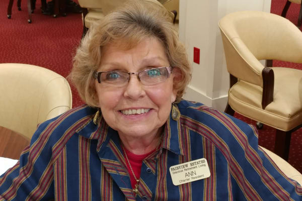 Ann Rutter at Fairview Estates Gracious Retirement Living in Hopkinton, Massachusetts
