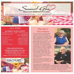 July Summit Glen Newsletter