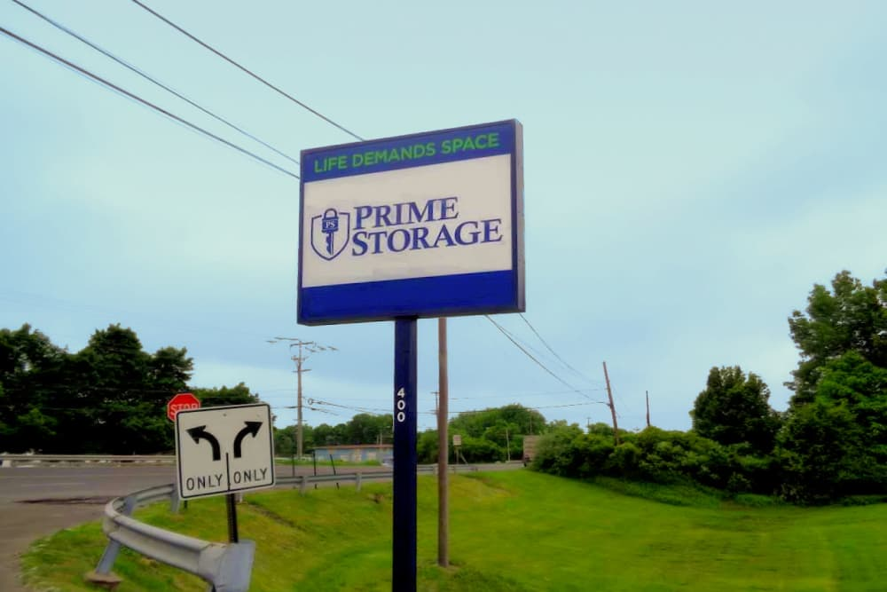 Front sign at Prime Storage in Fairless Hills, Pennsylvania