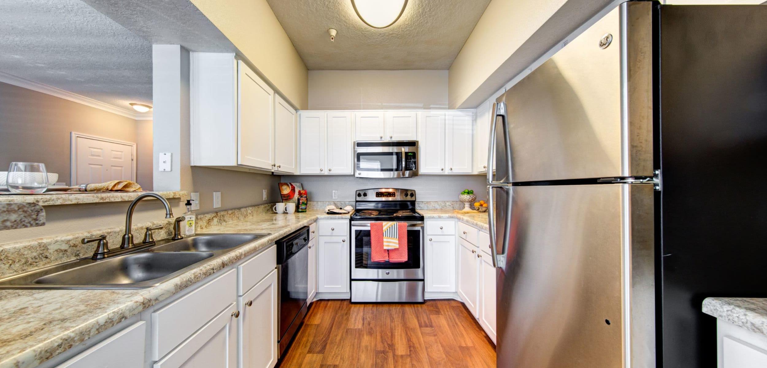Modern kitchen at Marquis at Silverton in Cary, North Carolina
