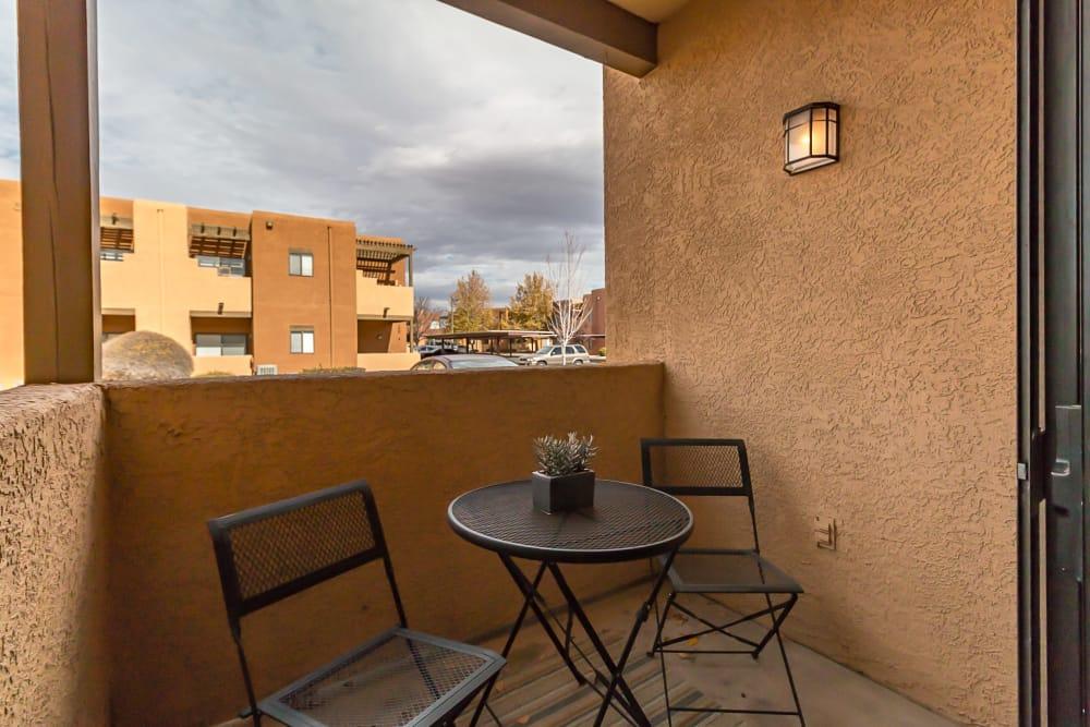 Suite balcony at San Miguel del Bosque in Albuquerque, New Mexico