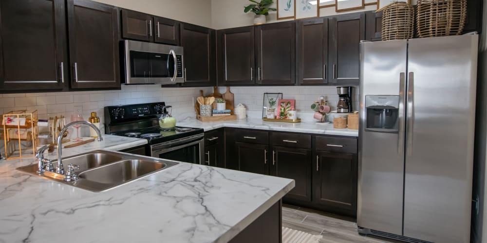 Modern kitchen at Cedar Ridge in Tulsa, Oklahoma