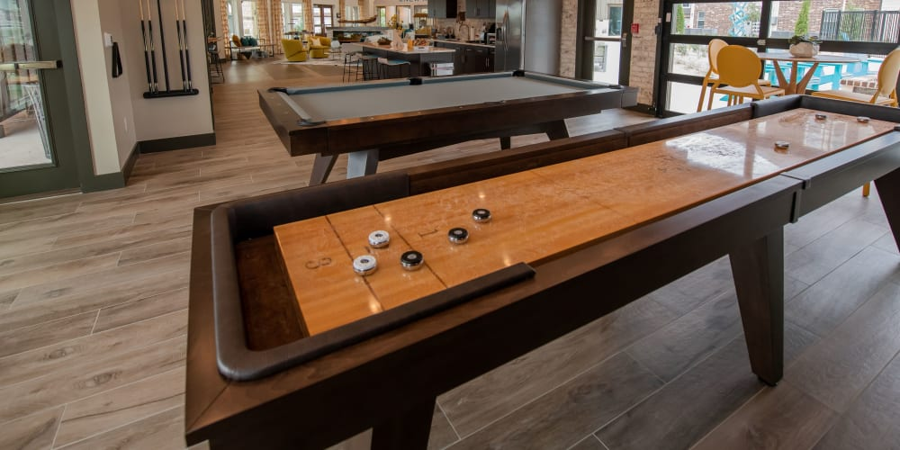 Shuffleboard table at 97@ North Oak in Kansas City, Missouri