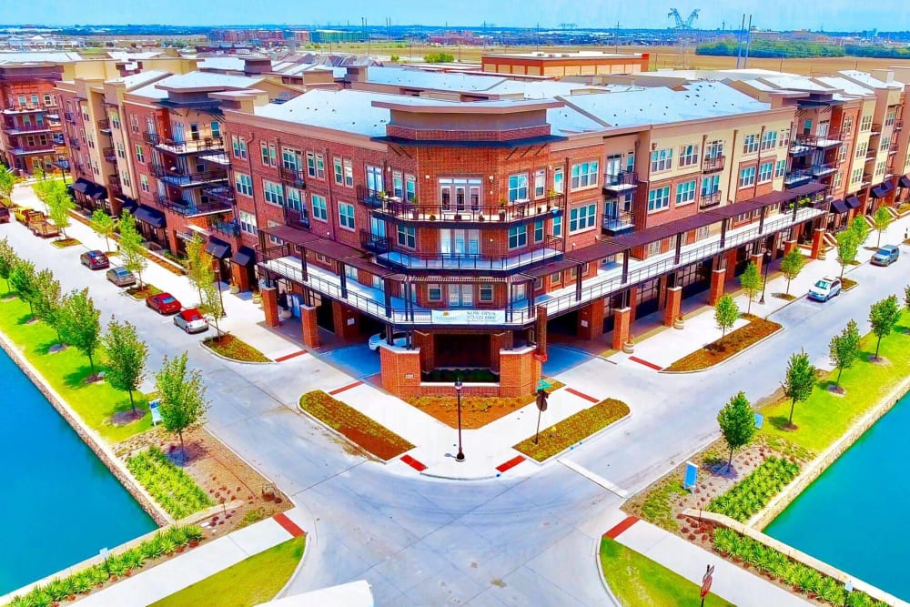 Aerial view of Watermere at Frisco in Frisco, Texas