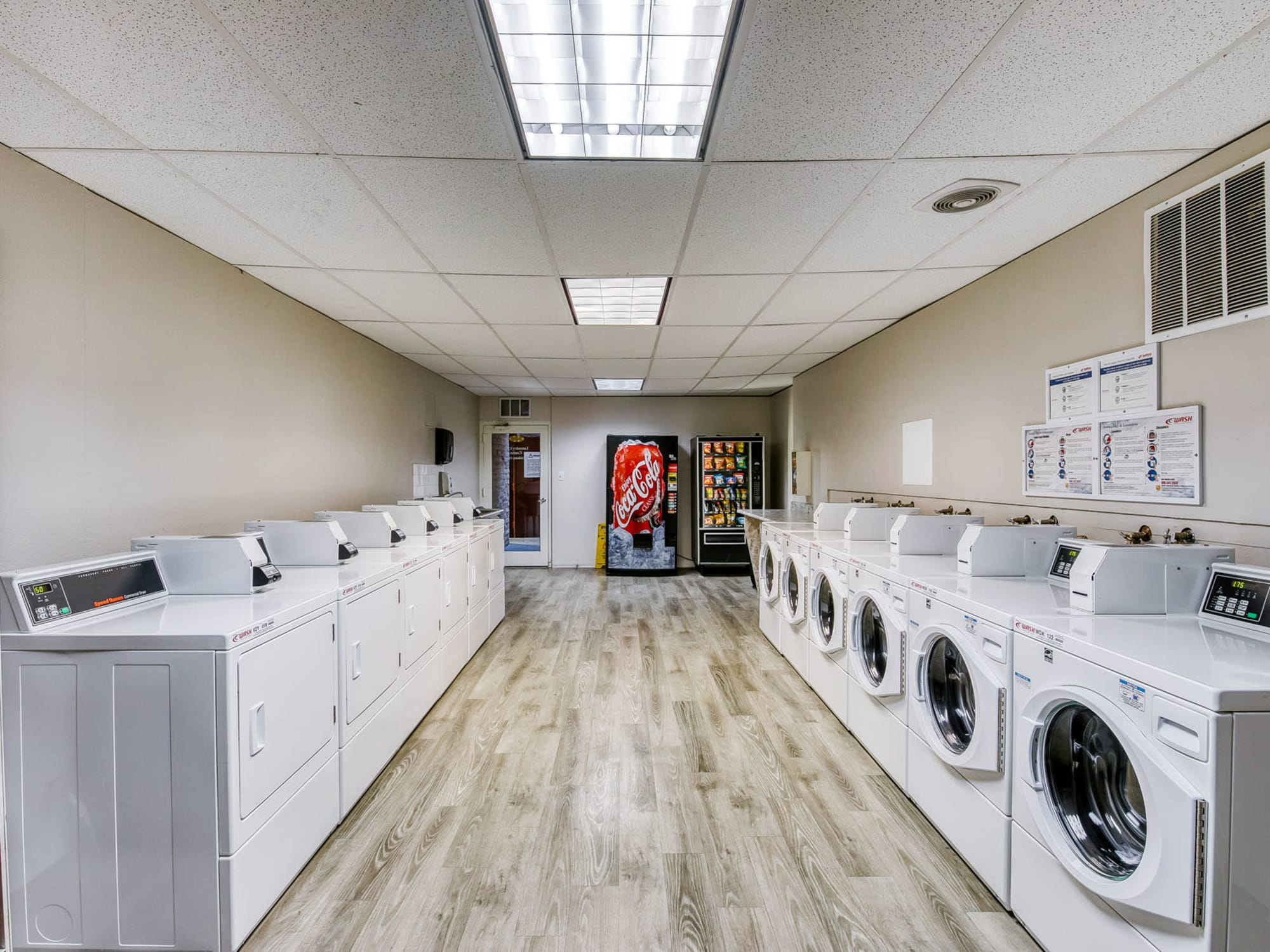 Clothes care facility at Mediterranean Village in West Hollywood, California