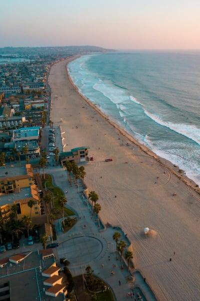 The beach near a San Diego Self Storage location