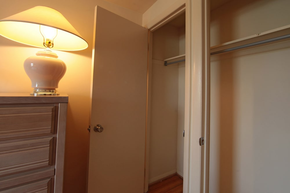 Closet space at Foxridge Townhomes in Essex, Maryland