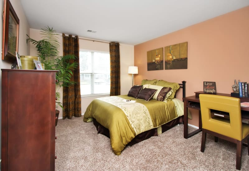 Master bedroom at Runaway Bay Apartments in Virginia Beach, Virginia