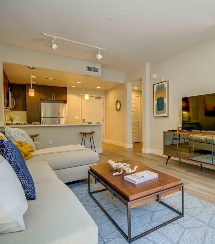 Designer living room at Sofi Riverview Park in San Jose, California