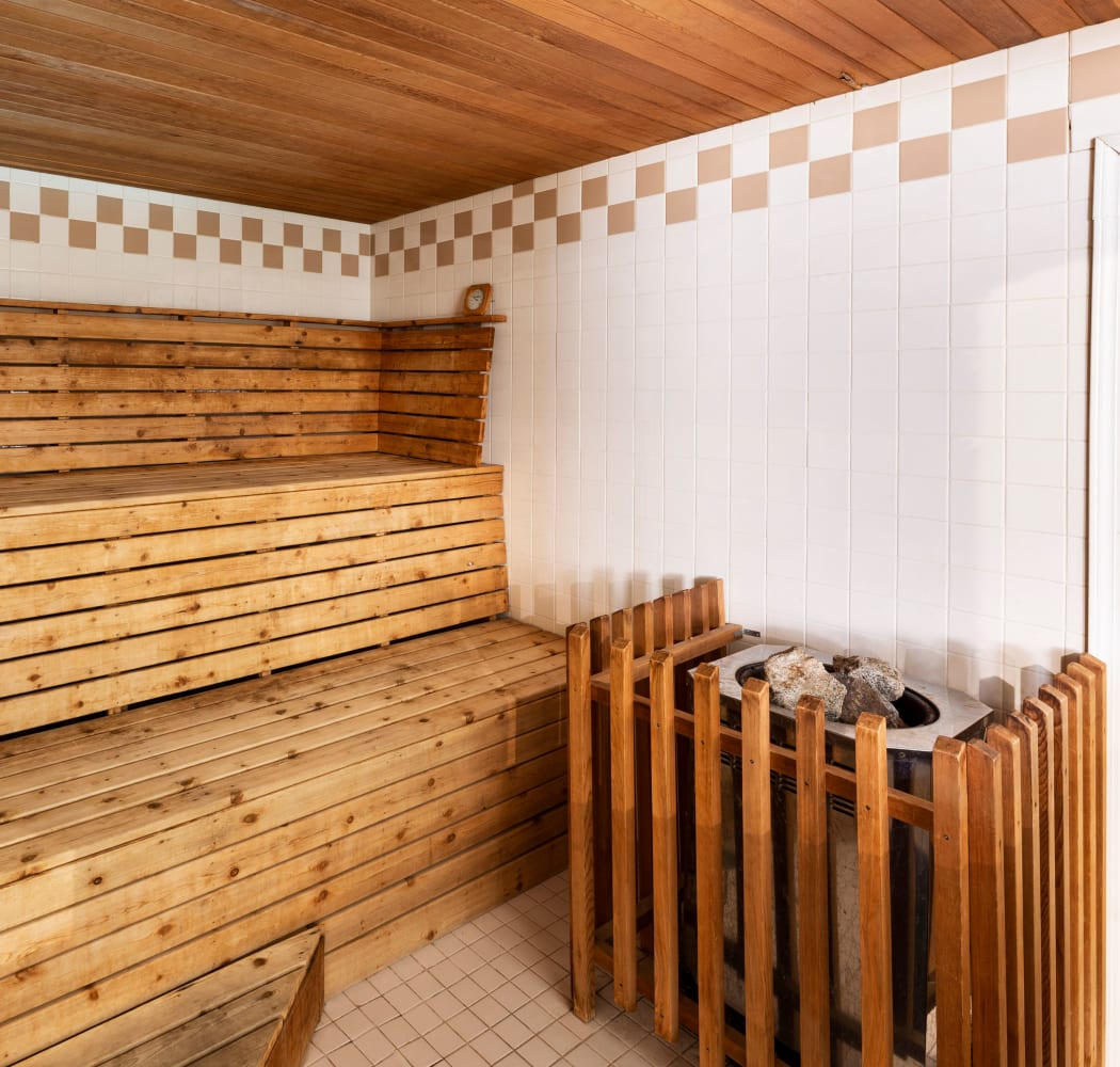 Lovely sauna at Fraser Tolmie Apartments in Victoria, British Columbia
