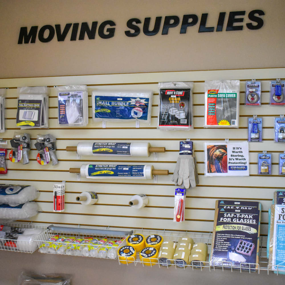 Moving supplies for sale at STOR-N-LOCK Self Storage in Redlands, California