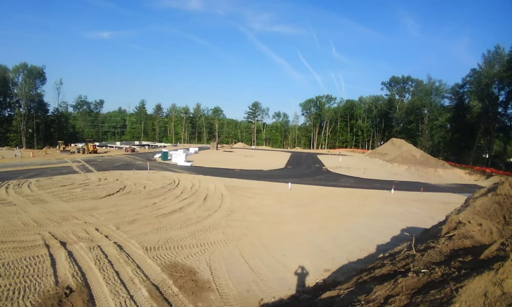 Big site under construction at Enclave 50 in Ballston Spa, New York