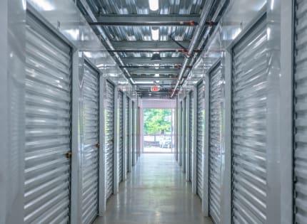 StorQuest Self Storage well lit hallway in Tigard, Oregon