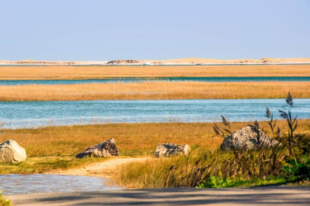 Beautiful water view near Maplewood at Mayflower Place in West Yarmouth, Massachusetts