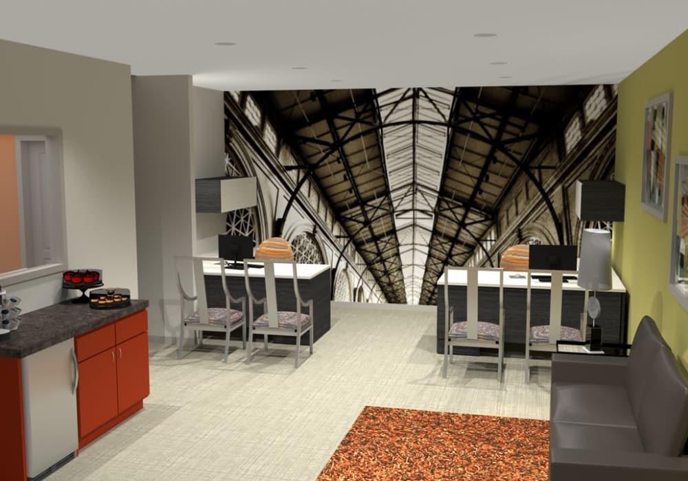 Business center at Elevation Apartments, Tucson, Arizona