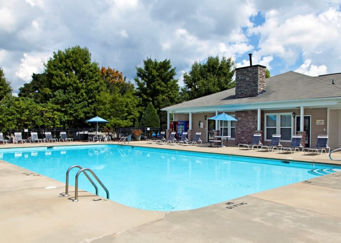 Enjoy a refreshing swimming pool at Fieldstone Apartments in Mebane, North Carolina
