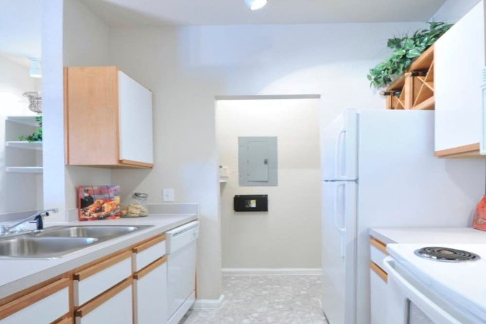 Spacious kitchen at Legacy of Cedar Hill Apartments & Townhomes in Cedar Hill, Texas