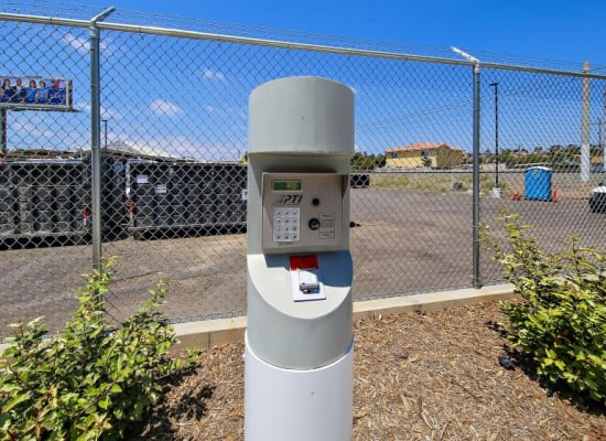 Keycode access point at A-1 Self Storage in San Diego, California