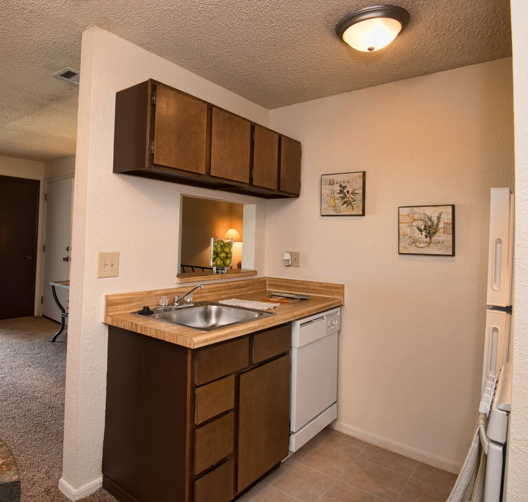 Kitchen at Aspen Park Apartments in Wichita, Kansas
