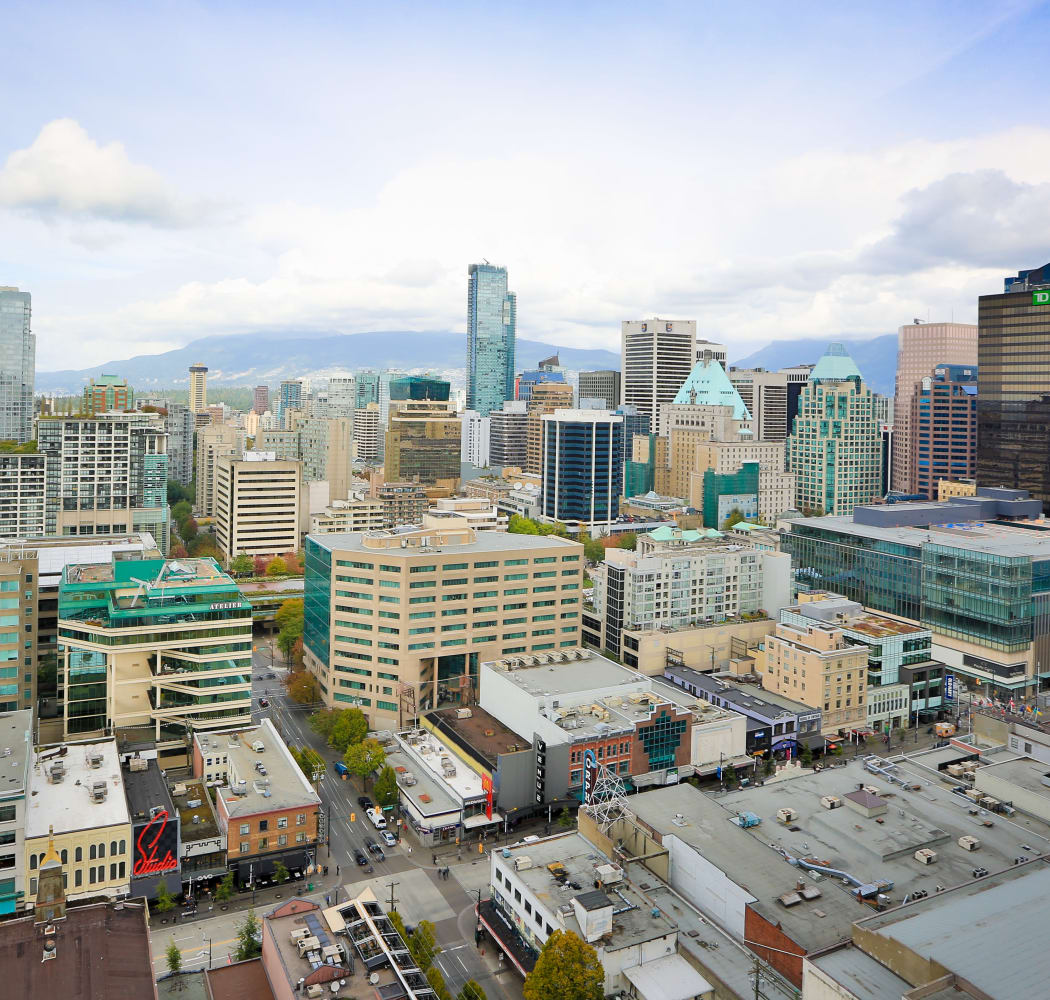 Amazing view from Metropolitan Towers in Vancouver, British Columbia