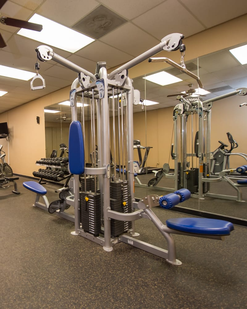 Fitness center at The Mark Apartments in Ridgeland, Mississippi