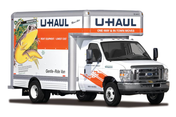 U-haul truck at Point of the Mountain Storage in Bluffdale, Utah