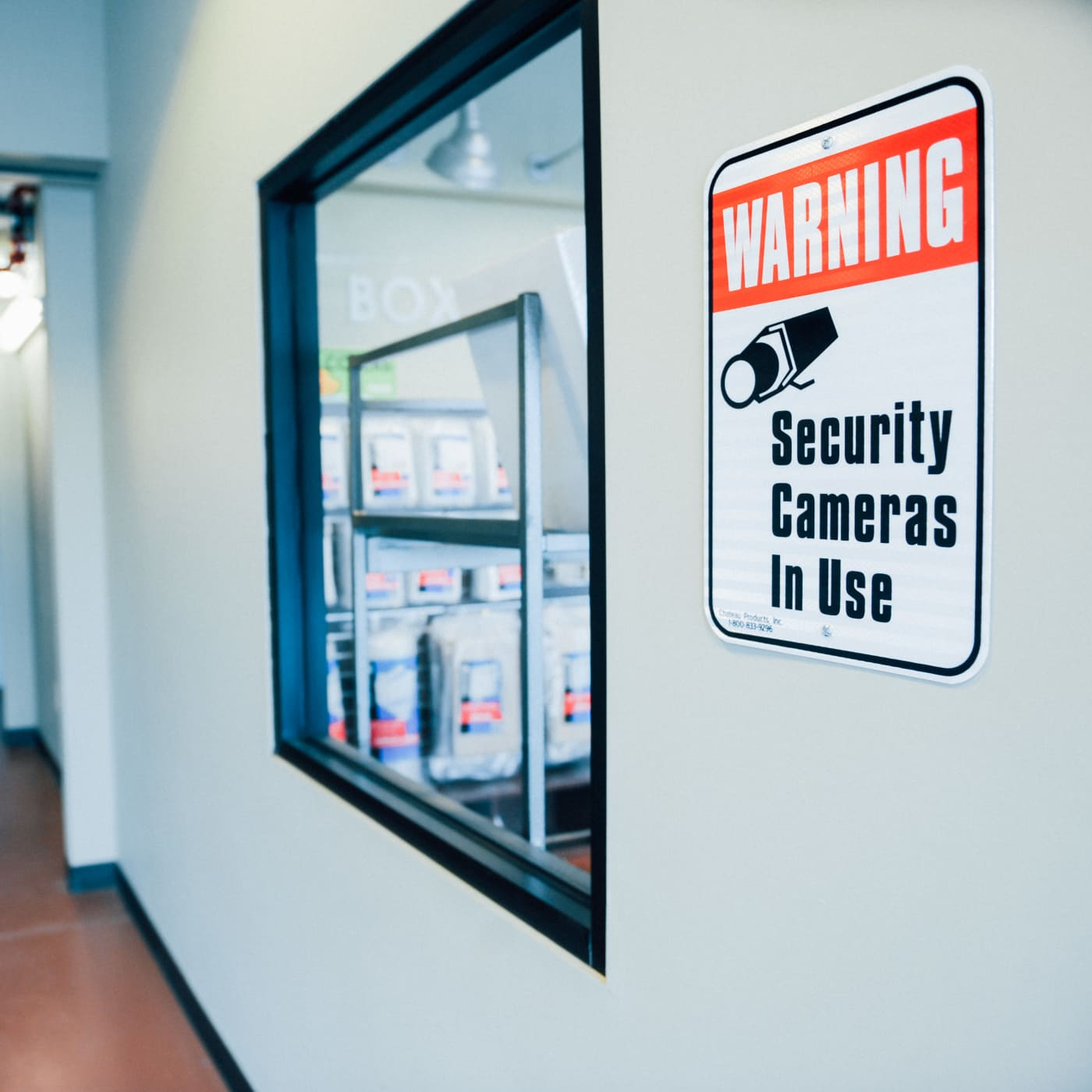 Security Camera sign at LockBox Self Storage in Winston-Salem, North Carolina
