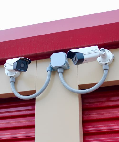 A couple of our security cameras at Global Self Storage in West Henrietta, New York