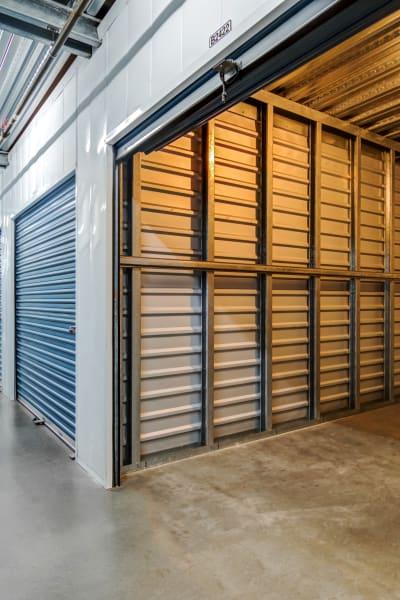 Looking into a storage unit at Carlsbad Self Storage in Carlsbad, California