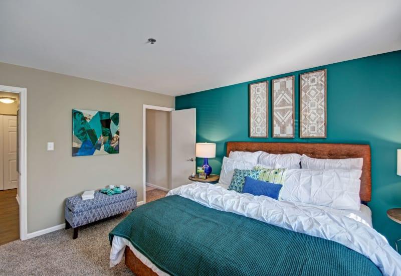 Bright bedroom at Exton Crossing in Exton, Pennsylvania