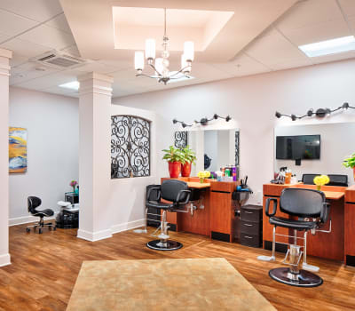 A salon at Cypress Point in Fort Myers, Florida.