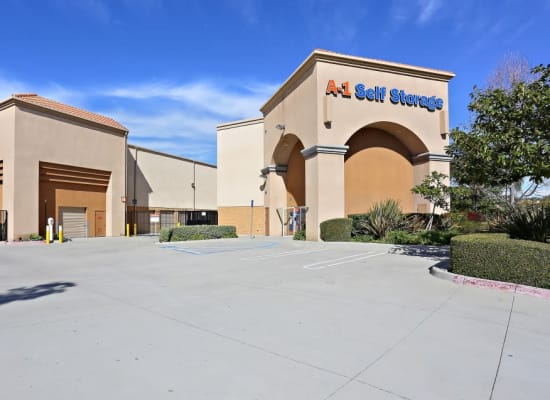 Front entry to A-1 Self Storage in Chula Vista, California
