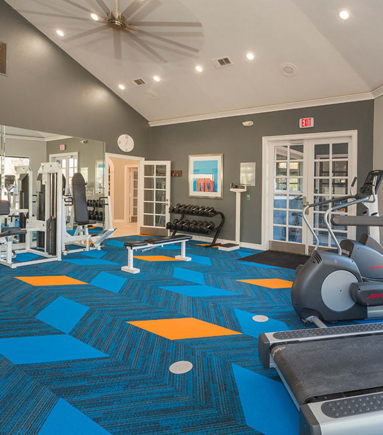 Fitness center at Retreat at Cheyenne Mountain Apartments