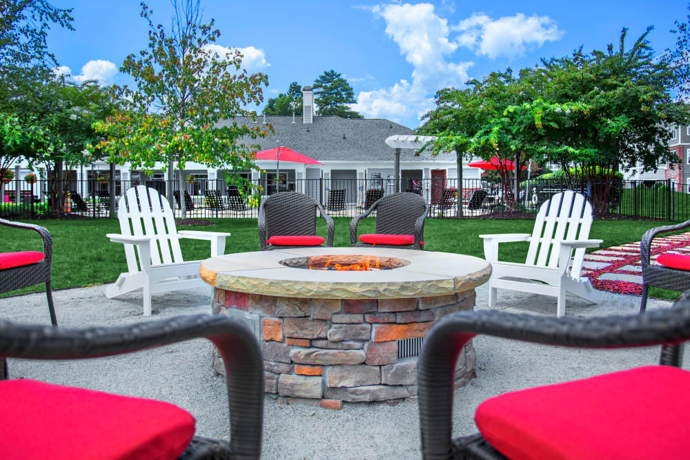 Firepit with Seating at The Seasons at Umstead in Raleigh, North Carolina