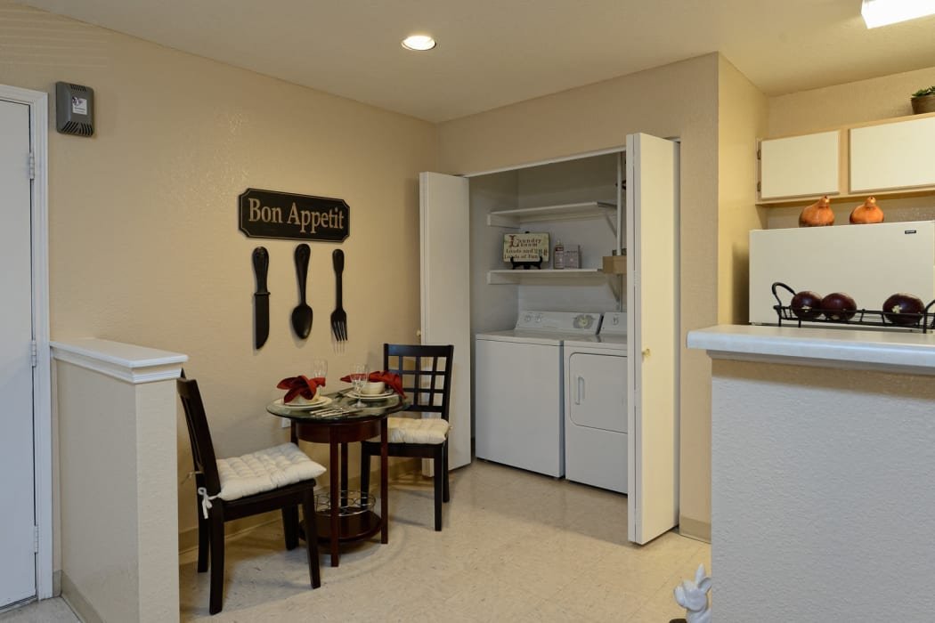 Dining room at Acacia Park Apartments in El Paso, Texas