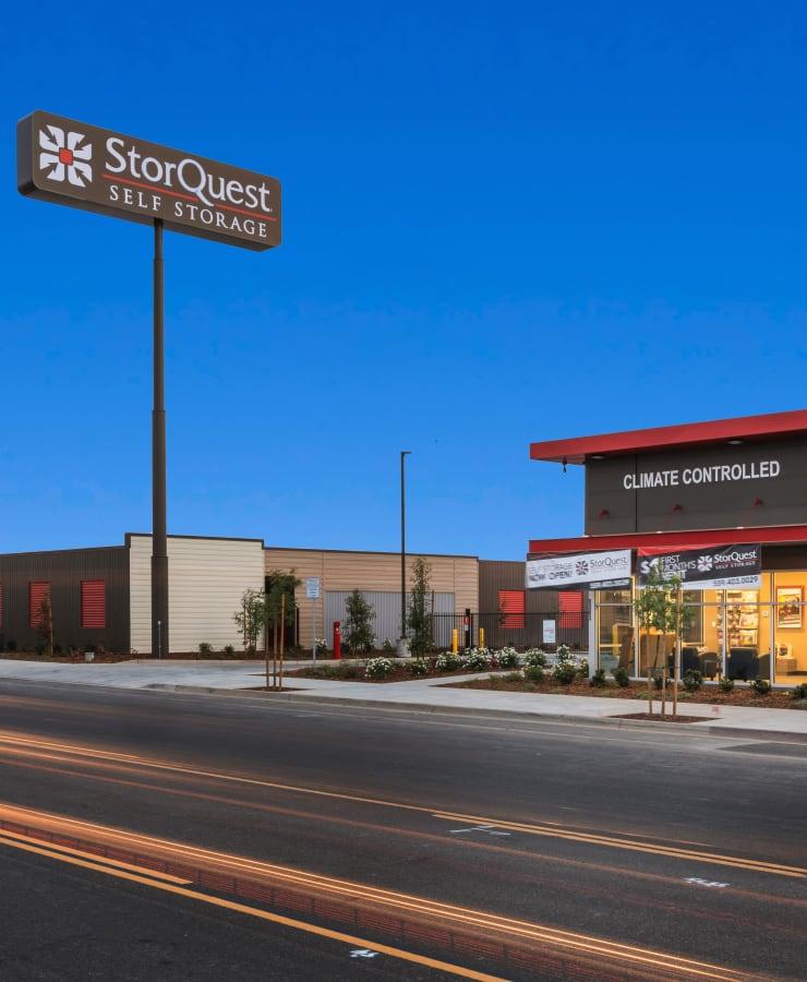 Street view of StorQuest Self Storage in Fresno, California