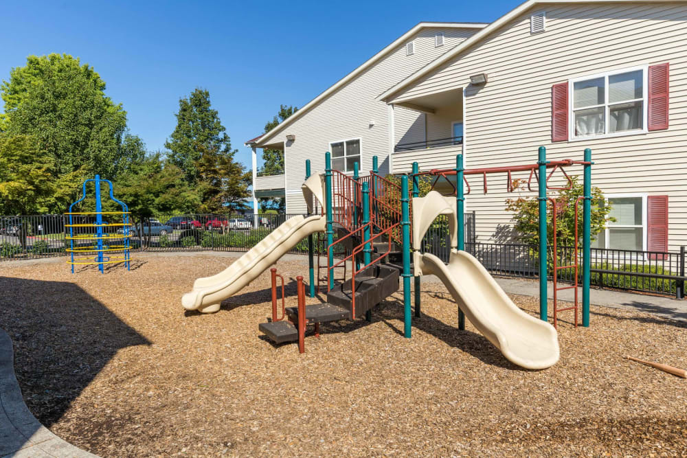 A playground for children at The Landings at Morrison Apartments in Gresham, Oregon