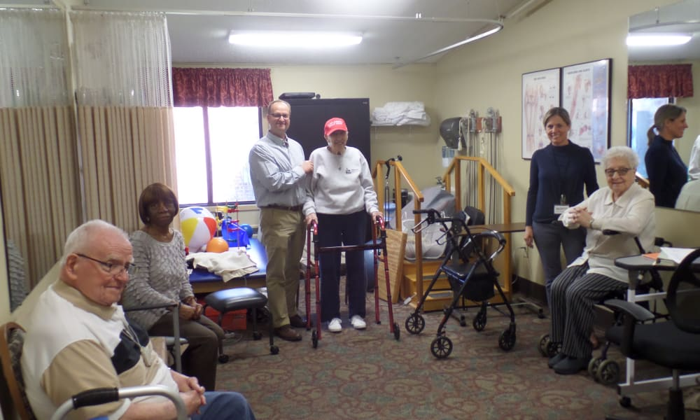 Seniors talking at Cardinal Village in Sewell, New Jersey
