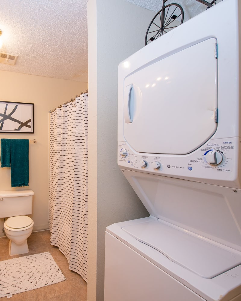 In-home washer and dryer at Summerfield Place Apartments in Oklahoma City, Oklahoma