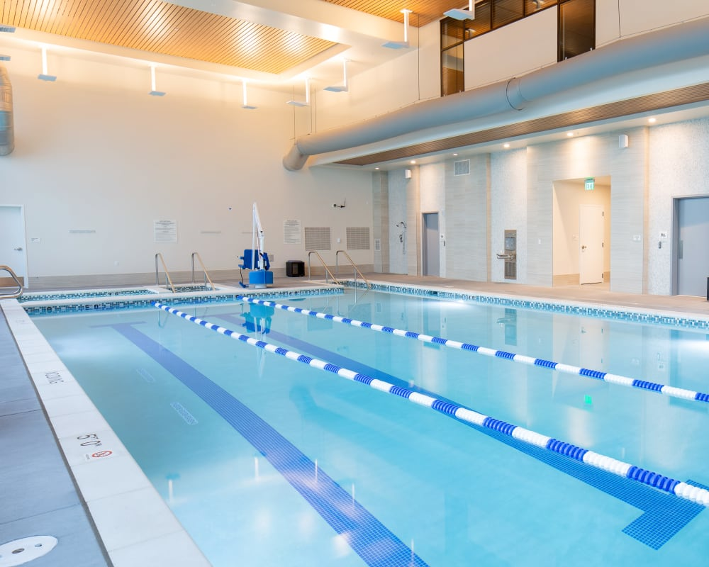 The fitness club pool at Touchmark in the West Hills in Portland, Oregon