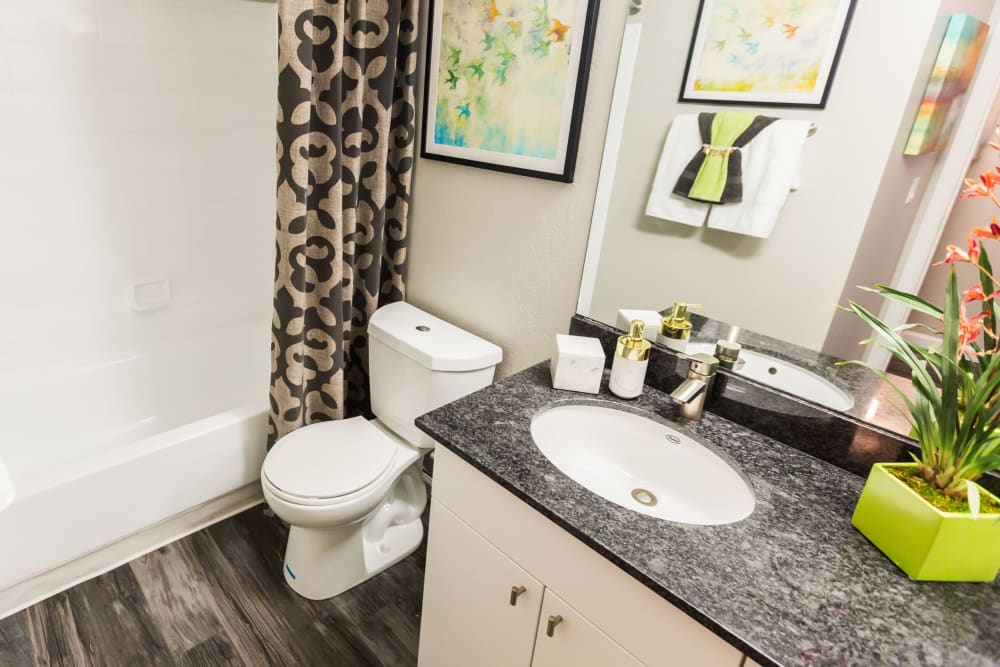 Bathroom with granite counter tops at 4127 Arcadia in Phoenix, Arizona