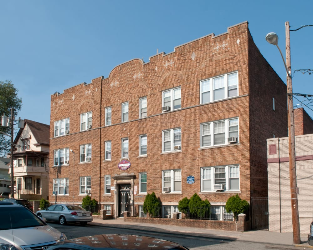 Exterior on a nice day at Murray Apartments in Paterson, New Jersey