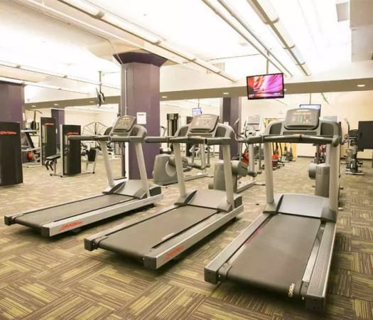 Fitness center for residents at The Bingham in Cleveland, Ohio