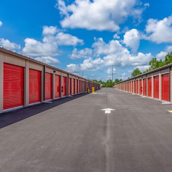 Outdoor storage units at StorQuest Express - Self Service Storage in Palm Coast, Florida