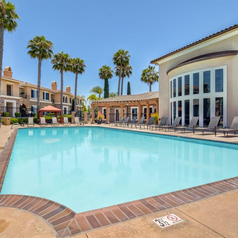 Beautiful swimming pool area at Sofi Shadowridge in Vista, California